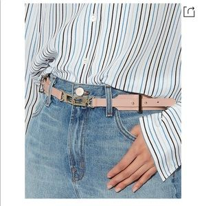Maison boinet pink leather belt